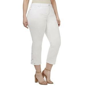 INC Jeans Plus Size 24W White Crochet Crop NEW